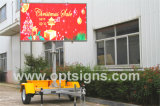 P8 P10 가득 차있는 매트릭스 발광 다이오드 표시 이동할 수 있는 광고 트레일러