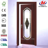 Крупноразмерная китайская стеклянная деревянная дверь