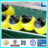 Boa di attracco di galleggiamento gialla del PVC