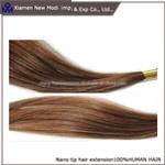 Extensão conveniente do cabelo da extensão Nano do cabelo humano da ponta