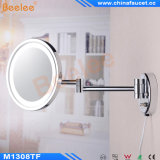 LED Light를 가진 고대 Brass Wall Mounted Magnifying Cosmeitc Mirror