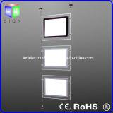 不動産のPortrateのハングの印が付いている水晶景色LEDのWindowsのライトボックス