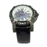 Orologio impermeabile di lusso su ordinazione Lw-10 del cuoio genuino