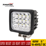 5 de '' diodo emissor de luz Work Light Sm6081-60 do CREE 60W IP68 Offroad