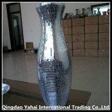 Dekorative Haushaltswaren-Glasvase mit GlasPaster