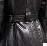 Chaqueta de cuero pura genuina de la nueva manera negra del diseño