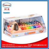 Игрушка рояля радуги собаки шаржа музыкальной аппаратуры младенца животная