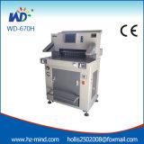 Сверхмощный гидровлический автомат для резки бумаги управлением программы с экраном касания (WD-670H)