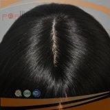 Seidiges gerades schwarzes erstklassiges unverarbeitetes Jungfrau-Haar-jüdischer Perücke-Typ fertige Fall-Perücken der Farben-100%