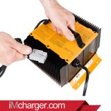Dpi Battery Charger X-24c020 24V 20A Portable Battery Charger Replacement mit Interlock