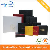 Contenitore impaccante personalizzato di regalo di carta rigido poco costoso con la finestra/timbratura calda (QYCI006)