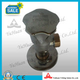 Válvula de esfera de bronze do ângulo com tipo aberto lento