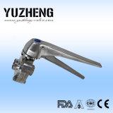 Constructeur sanitaire de vanne papillon de bride de Yuzheng
