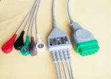 GEMarquette緑11pin Snap&Clip 5 ECGのケーブル