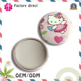Paper Doll Girls Pocket Hand Cosmetic Mirrors Portable Round Cartoon Make-up Mirror