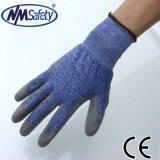 Отрезока PU Nmsafet перчатка предохранения от работы руки тонкого покрытого упорная