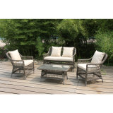 Zacht kussen Lounge Sofa Set Koffietafel Rattan Outdoor Furniture