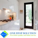Mobilia bianca degli armadi da cucina di rivestimento della lacca di lucentezza di modo alta (ZY 1081)