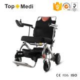 Portable médical de produits pliant le fauteuil roulant électrique de voyage léger