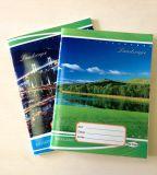 Libro de ejercicio barato de encargo del estudiante del cuaderno del papel del Hardcover de la escuela de la impresión del papel Size276X213