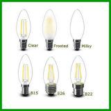 新しい360程度4W LEDのフィラメントの蝋燭E27 LEDのフィラメントの蝋燭
