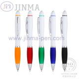 Penna di sfera di plastica di marchio variopinto Jm-D04A con il LED