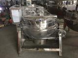 Ketel van het Roestvrij staal van het voedsel de Sanitaire Elektrische Beklede met Mengapparaat