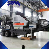 Triturador de pedra móvel móvel diesel fácil famoso
