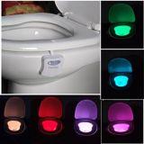 Bunter Bewegungs-Fühler-Badezimmernightlight-Bendable Sitz irgendein Toiletten-Licht