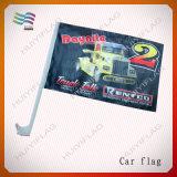 Bandeira confederada rebelde do carro dos EUA da tela do poliéster