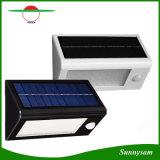 Alto indicatore luminoso solare sensibile solare caldo della parete del sensore di movimento della lampada di via di lumen LED 32 LED