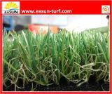 Het natuurlijke Groene Kunstmatige Gras van de Kleur voor Voetbal en Tuin