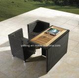 Frame de alumínio com jogo do Teak com a mobília ao ar livre do lazer da cadeira que janta o jogo (YT233)