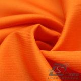agua de 75D 260t y de la ropa de deportes tela rayada tejida chaqueta al aire libre Viento-Resistente 100% de la pongis del poliester del telar jacquar abajo (E075H)