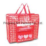 Sacchetto promozionale dei bagagli tessuto pp della serratura della chiusura lampo per acquisto