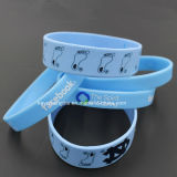 Promotion Custom Sport Energy Silicone Bracelet avec Debossed Color Filled Logo Band