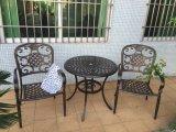 Conjunto al aire libre de los bistros de la fundición de aluminio del patio