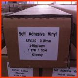 Vinil auto-adesivo polimérico, impressão de solvente Glossy Matte Sav10140g