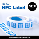 Pegamento Ntag216 ISO14443A de la escritura de la etiqueta del papel del Hf de Nfc