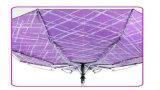 溝があるプリントコンパクトの防風のDuomaticの傘(YS-3FD33083972R)