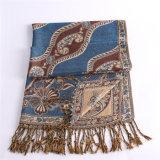 шарф зимы способа 100%Polyester голубой обыкновенный толком Pashmina для повелительницы