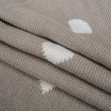 Schwergewichts- umschaltbare Baumwollknit-Baby-Decke CB-K16016