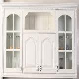 Cabinet de cuisine fait sur commande de feuille en cpv blanche de Matt (ZH-P02)