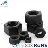 Noix Hex de haute résistance noire d'acier du carbone