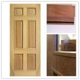 Porte coupe-feu en bois pleine de 100% avec le certificat commercial de nomenclature, système d'UL