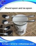 高品質の安いステンレス鋼の円形のスプーン