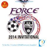 Medaglione d'argento di invito di gioco del calcio/calcio del randello su ordinazione