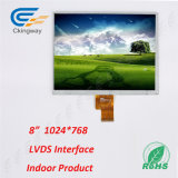 8 moniteur d'écran tactile de la résolution 1024 de surface adjacente de Lvds de pouce (RVB) X768