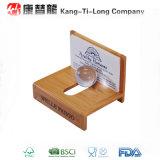 Porte-cartes en bambou de bureau