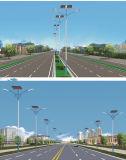 Sistema de iluminación solar de la calle al aire libre